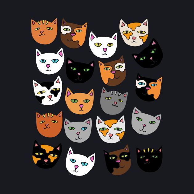Crazy Cat Lady Pattern cats