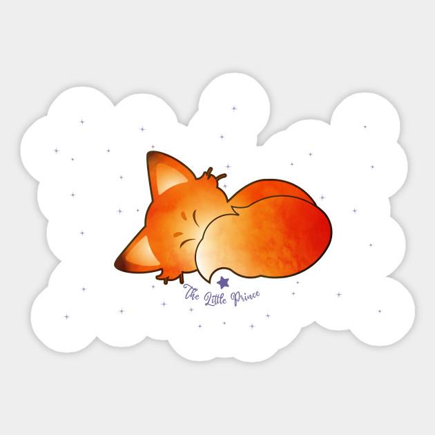 Little Fox Little Prince Sticker Teepublic Uk