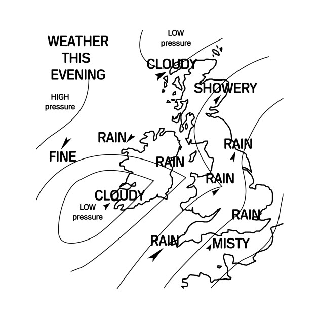 Map Of England Drawing.Uk Weather Map