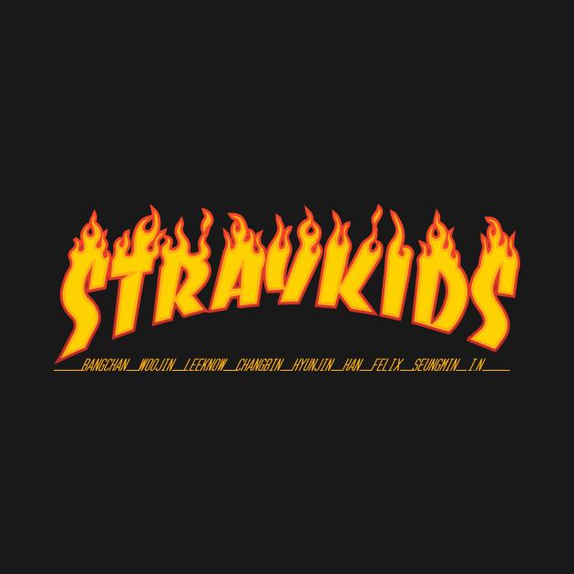 KPOP STRAY KIDS THRASHER FONT