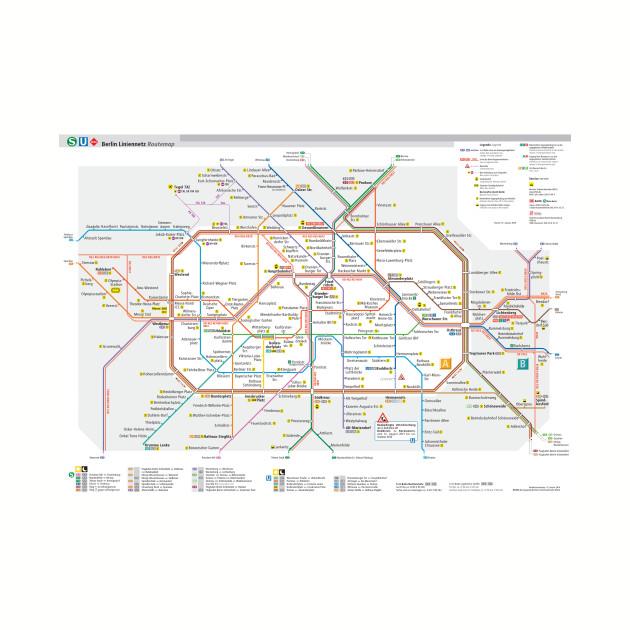 Subway Map Baseball.Berlin Subway Map