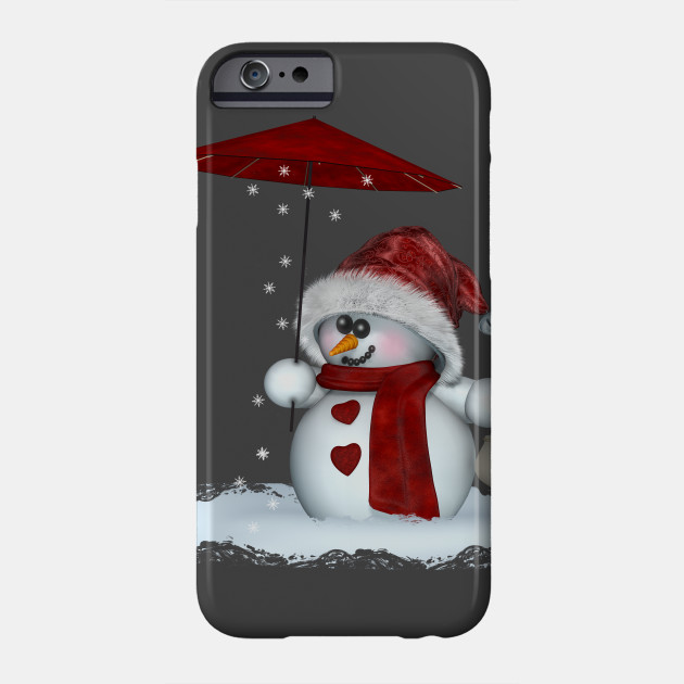 Little Snowman in red Phone Case