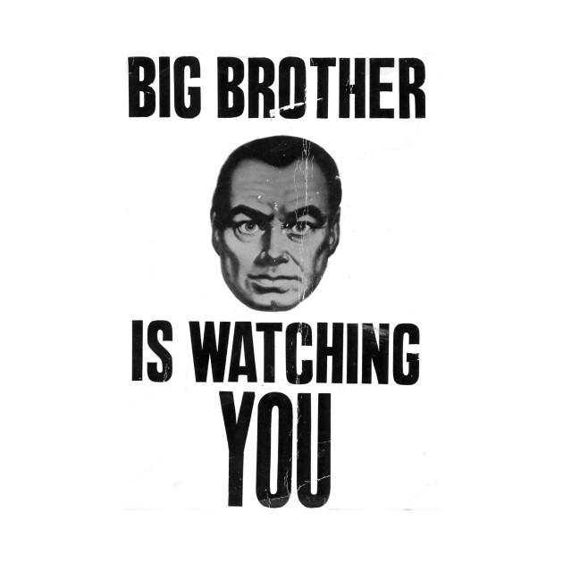 Orwell 1984 Big Brother Is Watching You Orwell T Shirt Teepublic