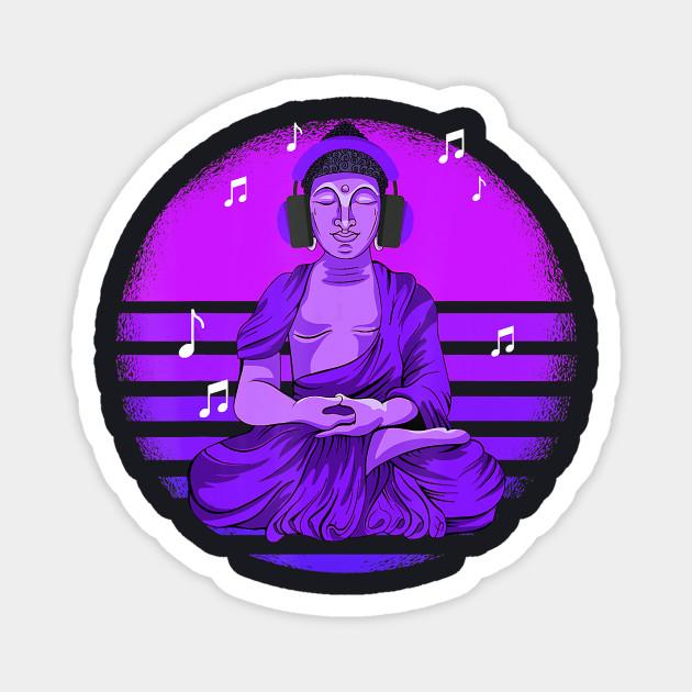 Music Buddha With Headphones T Shirt