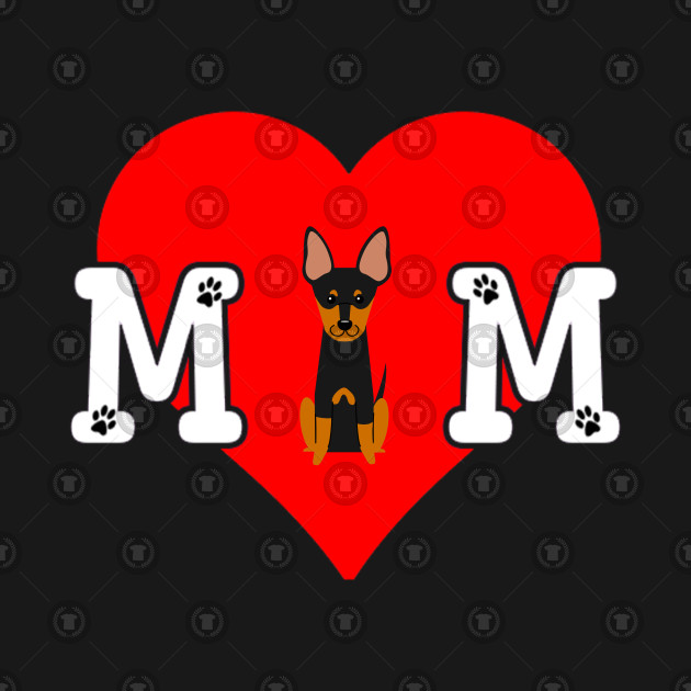English Toy Terrier Mom Dog Lover - Heart Gift For English Toy Terrier Parent