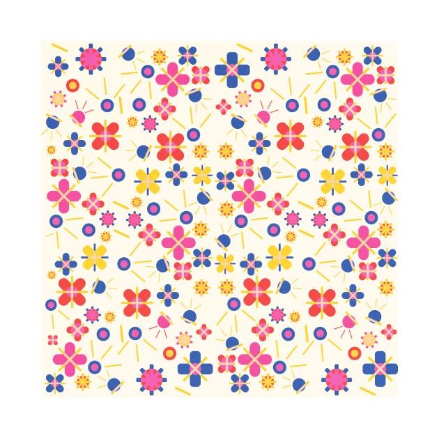 Lovely Bubblegum Flower Spring Pattern