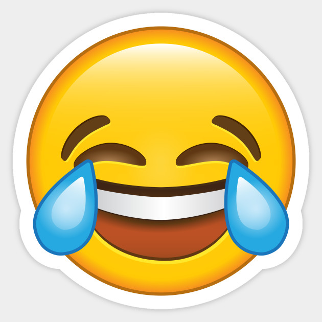Laughing Crying Tears of joy Emoji - Emoji - Sticker  e87a3d5259253