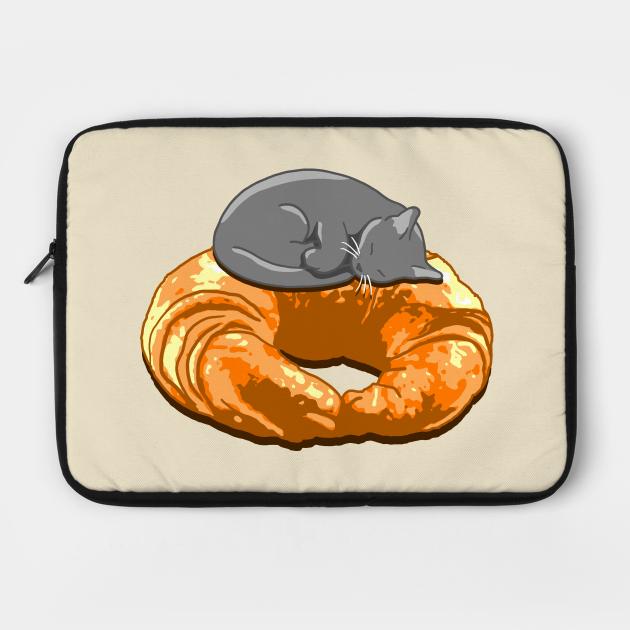 Croissant Grey Cat
