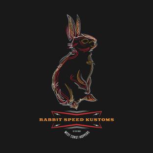Rabbit Speed Pinstripe Bunny no. 1 t-shirts