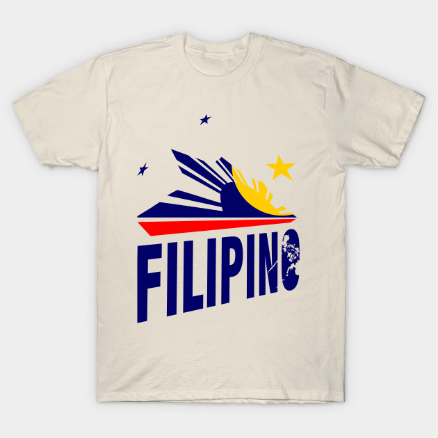 Filipino Stars And Sun Design Pilipinas T Shirt