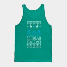 Final Fantasy XIV Scholar Ugly Christmas Sweater T-Shirt - Final ...