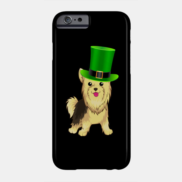Yorkshire Terrier St Patrick's Day Irish Leprechaun Dog Hat - Gift For Yorkshire Terrier Owner Puppy,St Patrick's Day, Irish,Ireland ,Leprechaun,Hat, Lover Phone Case