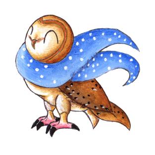 Cozy Christmas Barn Owl