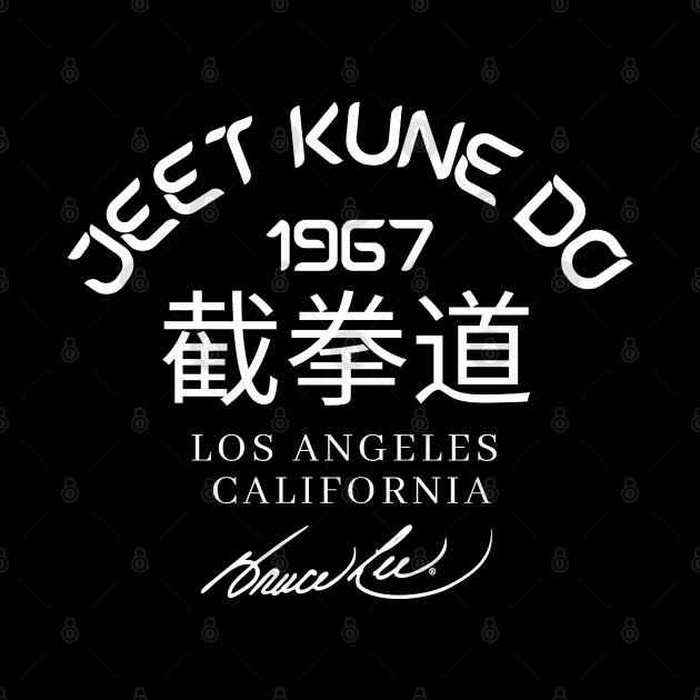 Jeet Kune Do Bruce Lee white signature