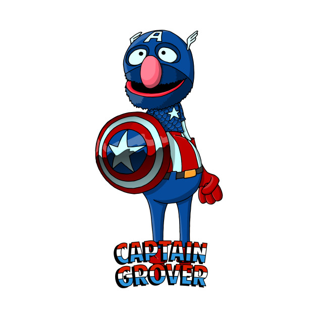 Grover the Captain America - America - T-Shirt | TeePublic