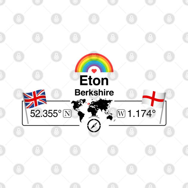 Eton, Berkshire with St. Georges Flag and Rainbow
