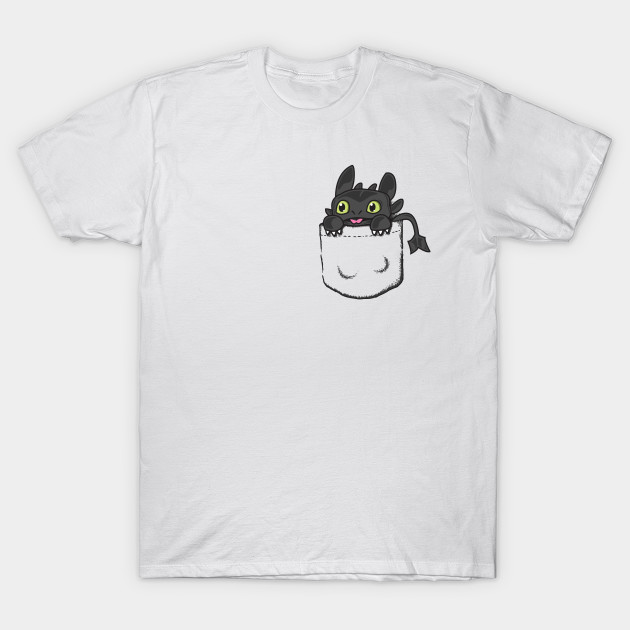 Pocket Toothless T-Shirt-TOZ
