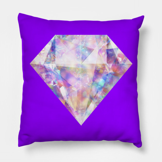 Sparkly Glittering Colorful Diamond Diamond Pillow Teepublic