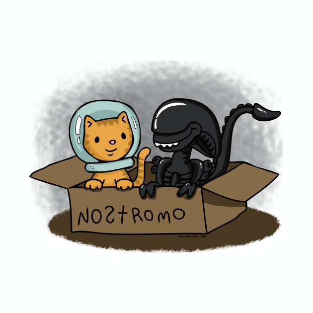 Jonesy and Alien in a box