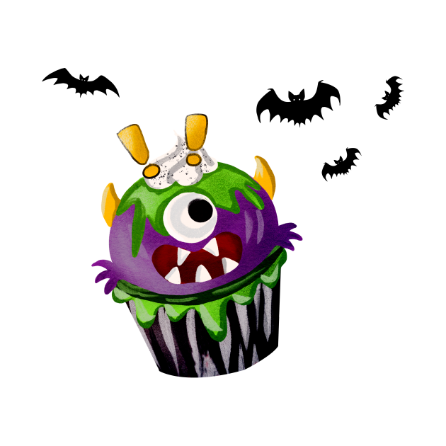 Halloween Surprised Cake Bat