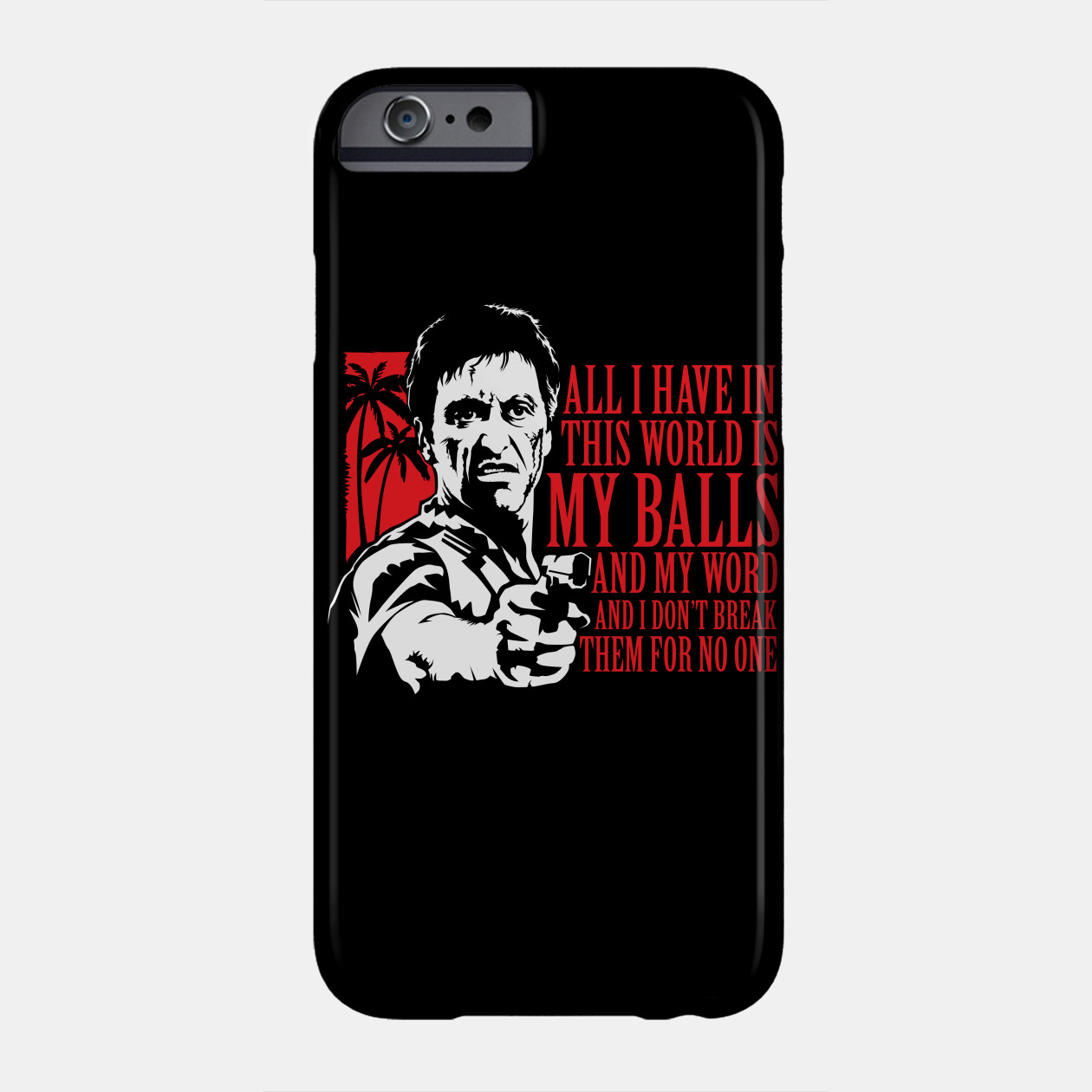 SCOZOS tony montana scarface phone case for iphone X 4 4s ... |Scarface Phone Case