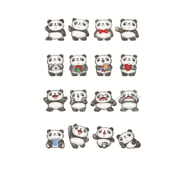 Various feeling of Panda
