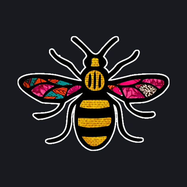 Retro Pink floral Bee