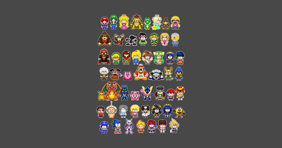 Super Smash Bros Pixels Super Smash Bros T Shirt