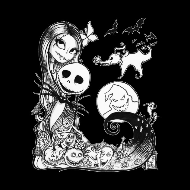 Tim Burton Nightmare Before Christmas Jack And Sally.Jack And Sally S Nightmare
