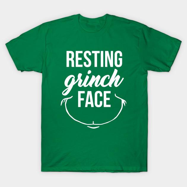9342c3822af09 Resting Grinch Face - Resting Grinch Face - T-Shirt