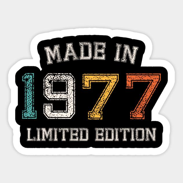 Born in 1977 Made in 1977 43th Gift - Born In 1977 - Sticker ...