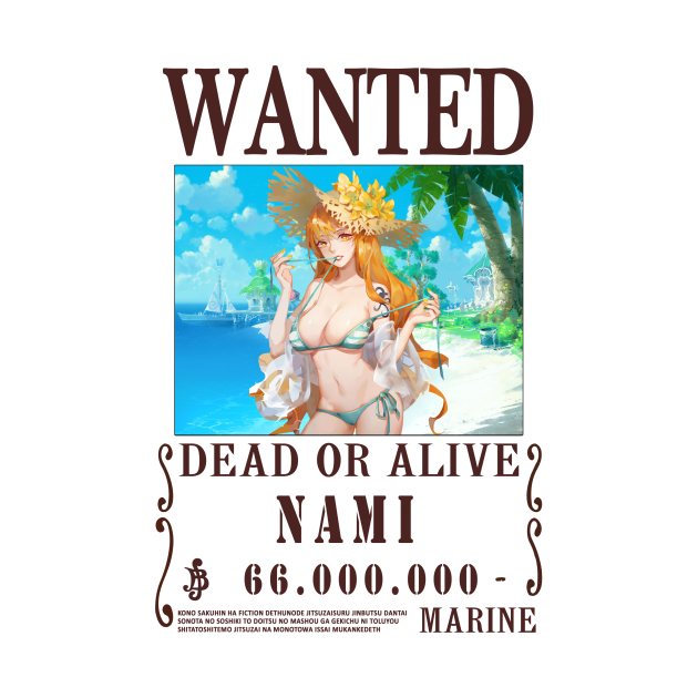 Nami One Piece Wanted