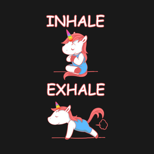 Yoga Unicorn Inhale Exhale