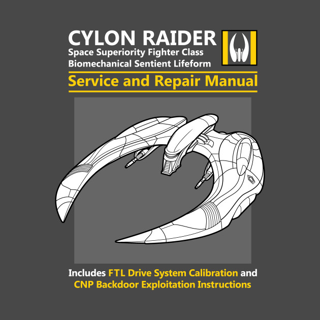 Cylon Raider Service And Repair Manual T-Shirt