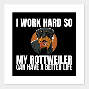 Great Gift for Rottweiler lovers Rottweiler Personality Trait Poster