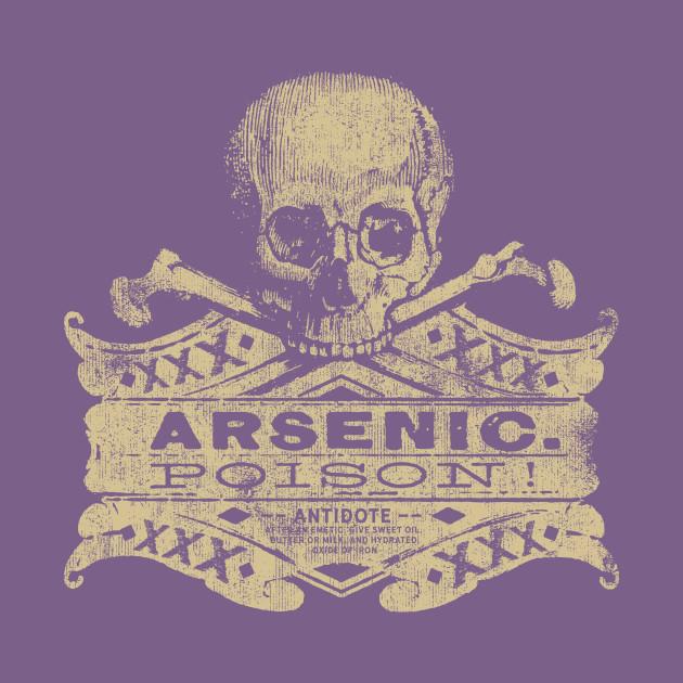 5285fea0 Vintage Arsenic Skull Poison Label Halloween Tee - Halloween - T-Shirt |  TeePublic