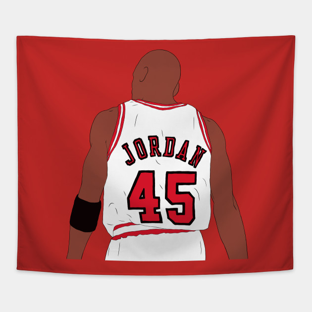 acheter en ligne dce71 d9085 Michael Jordan 45 Back-To - Michael Jordan - Tapestry ...