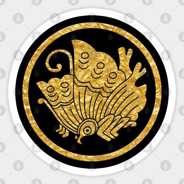 Japanese Mon Ageha Cho Kamon Sticker Teepublic