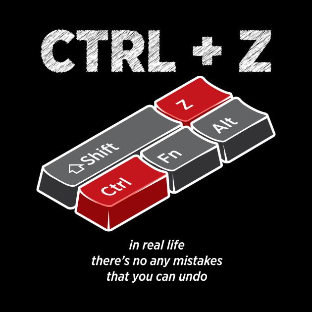 UNDO Control Z Computer Shortcuts