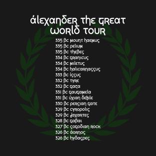 Alexander The Great World Tour t-shirts