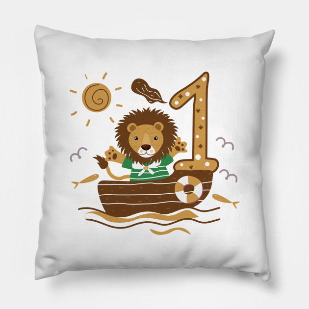 First 1 Birthday Toddler Boy Son Nephew Lion Cute Sweet One Year Old Mug Sticker Pillow Gifts Ideas