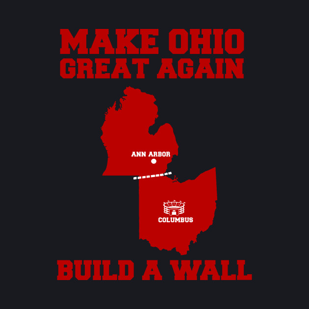 MAKE OHIO GREAT AGAIN (SCARLET ON GRAY)