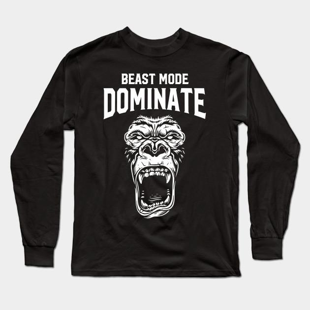 """Power Longsleeve White /"""" Beast Mode /"""""""