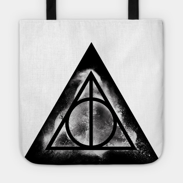 Harry Potter Deathly Hallows White Sand Triangle Potterhead