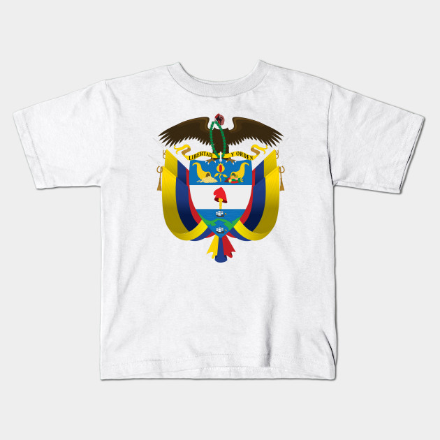 Escudo De Colombia Coat Of Arms Of Colombia Colombia Kids T Shirt Teepublic