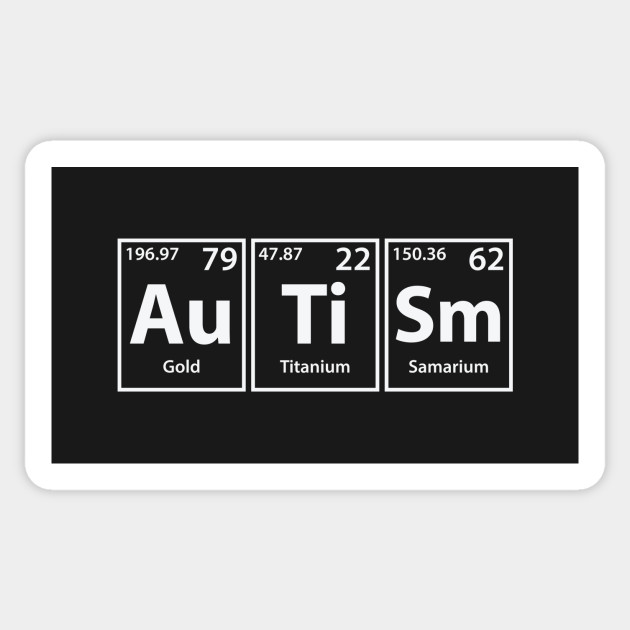 Autism au ti sm periodic elements spelling autism sticker 1653046 1 urtaz Gallery