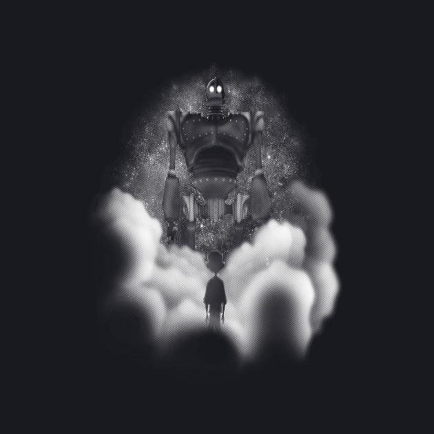 Giant through the fog