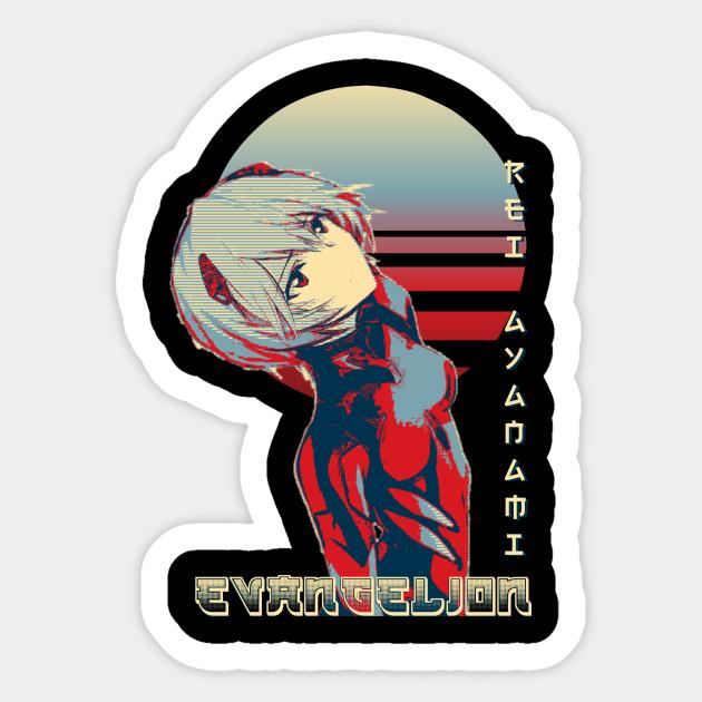 Rei Ayanami Rei Ayanami Evangelion Sticker Teepublic