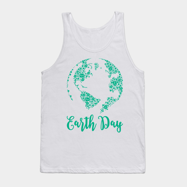 Earth Day World Leaves - Earth Day graphic Gift Tank Top
