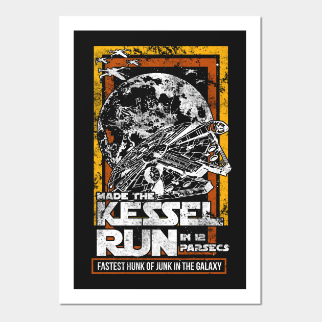 The Kessel Run - Millenium Falcon - Wall Art | TeePublic